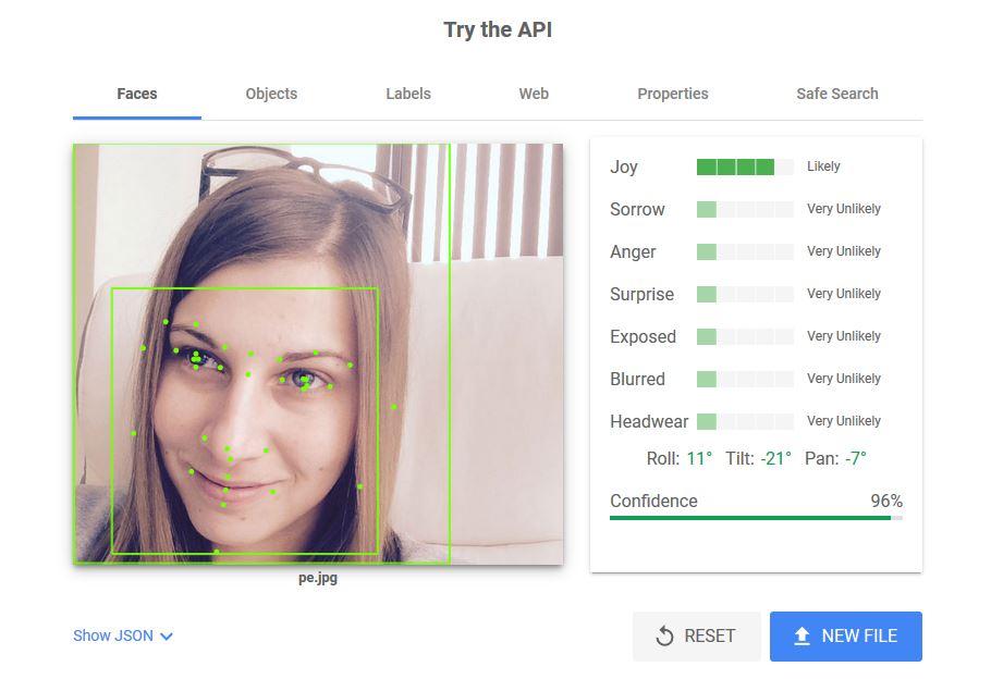 оптимизиране на изображения - Vision AI - faces
